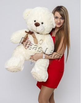 """Медведь """"I love you"""" 110 см Молочный"""