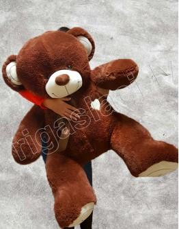 """Медведь """"I love you"""" Бурый 145 см"""