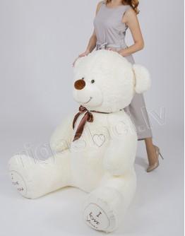 """Медведь """"I love you"""" 180 см Молочный"""