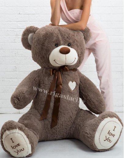 """Медведь """"I Love you"""" Серо-коричневый 180 см"""