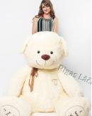 """Медведь """"I love you"""" 230 см  Молочный"""