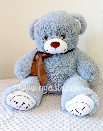 "Медведь «I love you"" серый 85 см"
