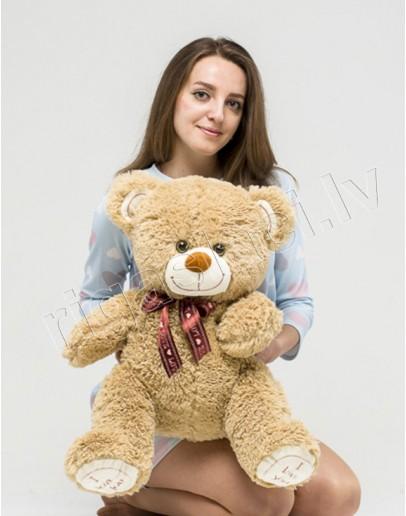 """Медведь """"I love you"""" 80 см Светло-коричневый"""