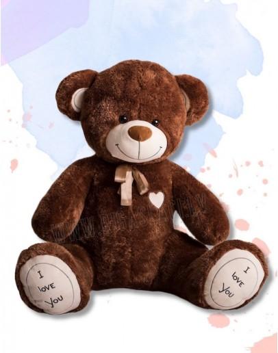 """Медведь """"I love you"""" 180 см Бурый"""