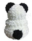 Мишка из искусственных роз Панда 37 см  (не мягкий)